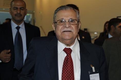 El presidente iraquí, Jalal Talabani, en París. | Reuters