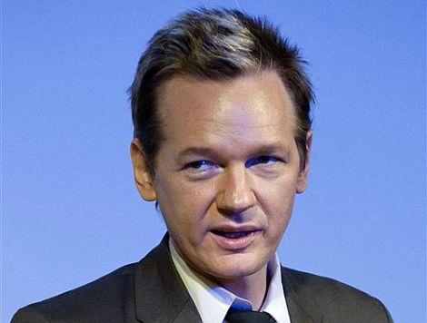 Assange, durante una de las conferencias que ha ofrecido en Estocolmo. | Ap