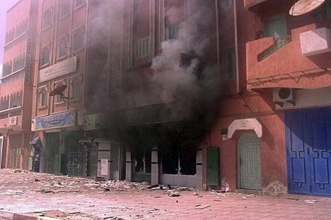 Disturbios en El Aaiún.   Efe