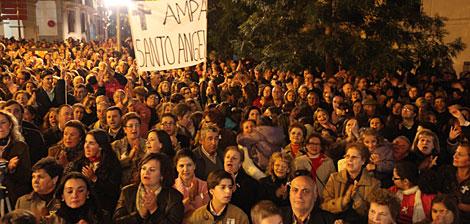 Participantes en la protesta. | D.V.
