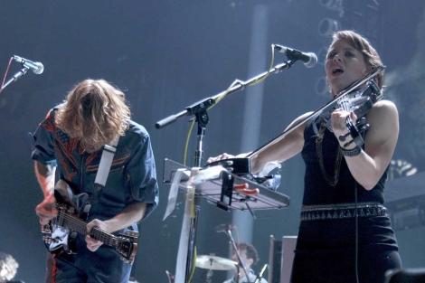 Arcade Fire actuó anoche en Madrid.   Efe