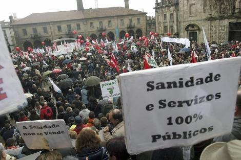 La manifestación culminó en la Quintana.   Efe