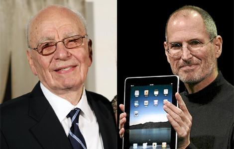 Rupert Murdoch y Steve Jobs, unidos por el iPad. (Foto: AP |AFP)