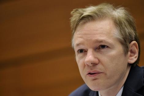 El australiano Julian Assange, jefe de WikiLeaks, en Ginebra. | Afp