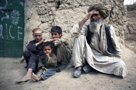 Niños afganos en el valle de Arghandab. | Ap