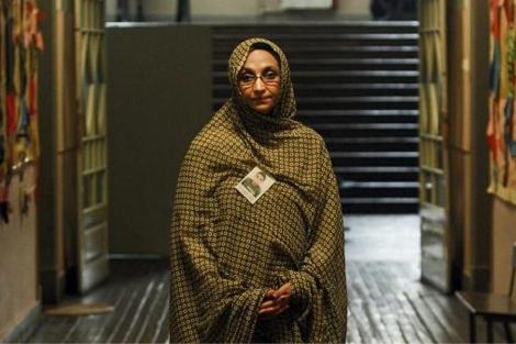 Aminatu Haidar, durante su estancia en Portugal. | Efe