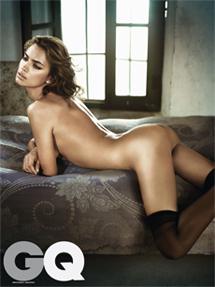 Imagen de la modelo publicada en la revista.   revistagq.com