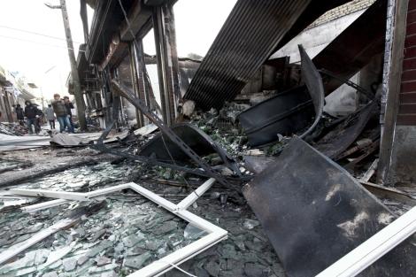 Una casa destruida por los bombardeos en Yeonpyeong. | Efe
