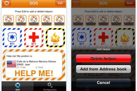 Dos pantallas de la aplicación.