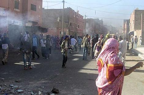 Imagen de los disturbios en El Aaiún.