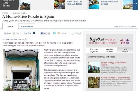 'Wall Street Journal' también ha publicado el reportaje en su diario online. | ELMUNDO.es