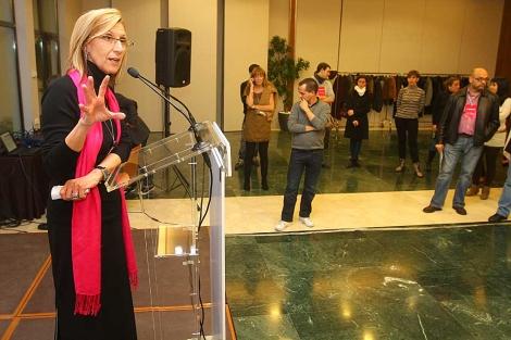 Rosa Díez interviene tras conocer los resultados. | Christian Maury