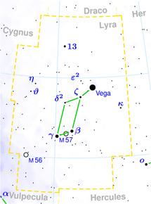 Localización de M57 en la Lira | R. Mura