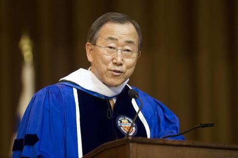 El secretario general de la ONU, Ban Ki-moon.   Ap