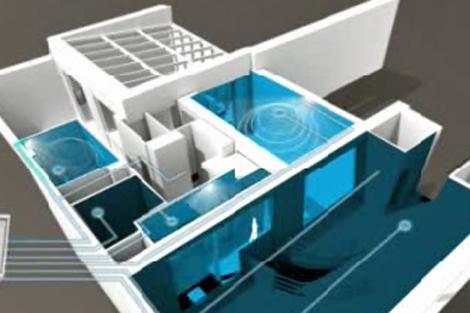 Recreación de una vivienda inteligente. | Legrand.es