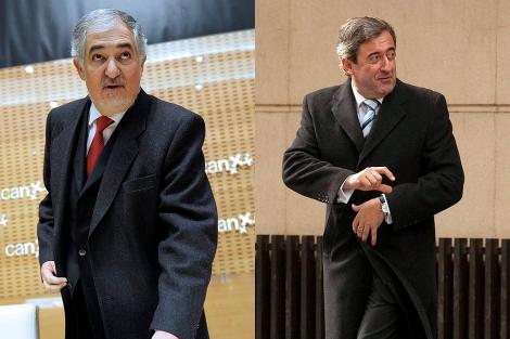 El fiscal general del Estado, Conde-Pumpido y el fiscal jefe de la AN, Javier Zaragoza.