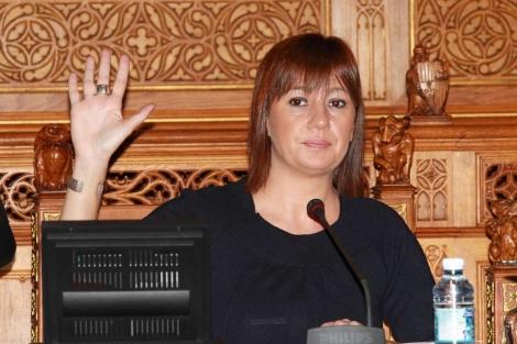 Armengol durante la votación. | P. Vicens