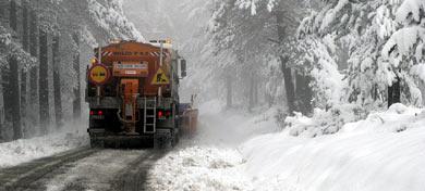 Nieve en A Fonsagrada (Lugo).   Efe MÁS FOTOS