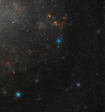 El cielo en torno a OGLE-LMC_CEP0227 | ESO/DSS2 y D. de Martin