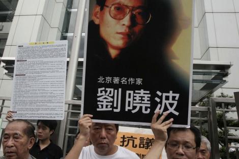 Protesta para pedir la liberación del disidente chino Liu Xiaobo. | Ap