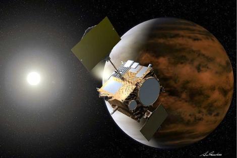 Recreación artística de la misión japonesa en Venus. | Ap