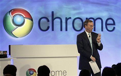 El consejero delegado de Google, Eric Schmidt, durante la presentación de Chrome. | AP