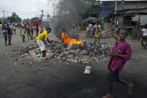 Enfrentamientos vividos en Costa de Marfil tras las elecciones. | Efe