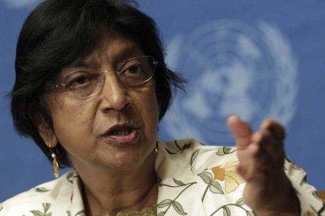 La Alta Comisionada de Derechos Humanos de la ONU, Navi Pillay.   Reuters
