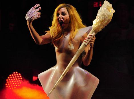 'Lady Gaga', en un momento del espectáculo. | G. Arroyo