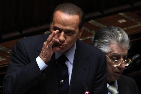 Berlusconi, el lunes en la Cámara Baja. | Reuters
