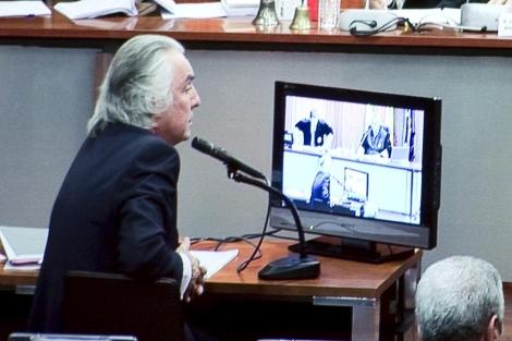 Pedro Román durante su declaración en el juicio. | Efe