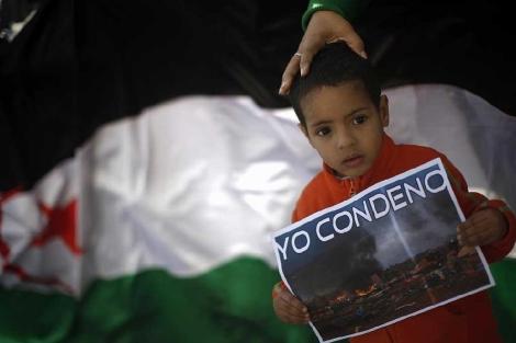 Protesta a favor de la independencia saharaui en Málaga. | Reuters