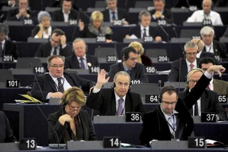 Imagen de archivo de un pleno en Estrasburgo.  Efe