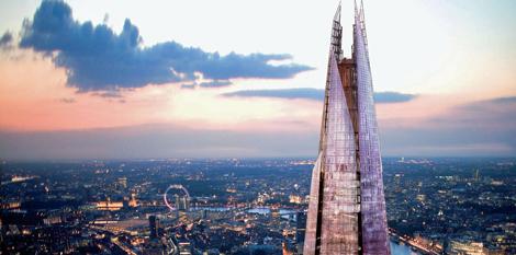 Recreación desde el cielo de The Shard. | Imágenes: Sellar Property Group