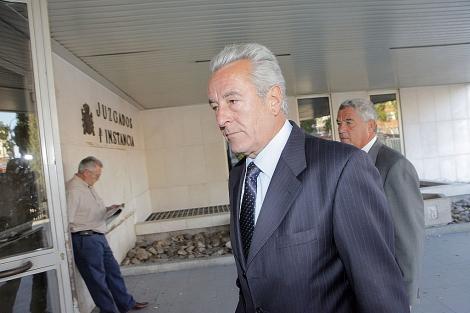 Juan Jesús Sánchez Manzano, en los juzgados de Plaza de Castilla.   Óscar Monzón