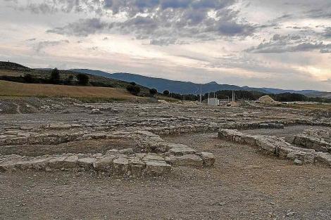 Restos del poblado localizado en el yacimiento de Deóbriga, en Miranda de Ebro. | El Correo de Burgos