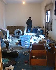 Casa saharaui atacada por colonos. | AI