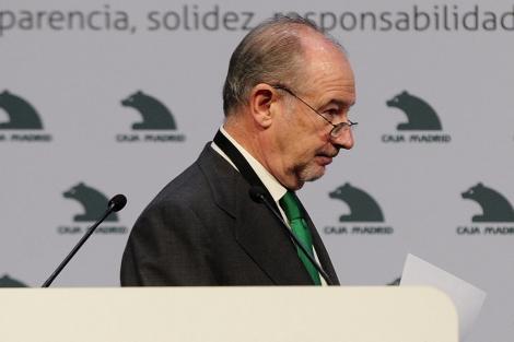 El presidente de Caja Madrid, Rodrigo Rato, en el X Encuentro Financiero Internacional. | B. Díaz.