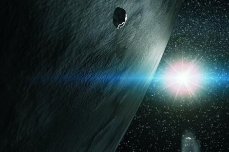 Recreación artística del asteroide '65 Cybele'.   IAC