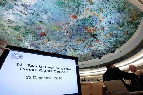 Sala donde se desarrolla la reunión de la ONU, en Ginebra.| Reuters