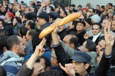Imagen de la protesta por más empleo.| Afp