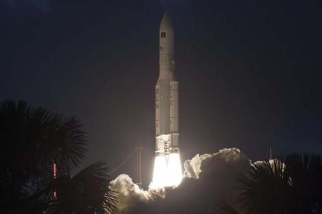 Imágen del cohete europeo Ariane-5.  AFP