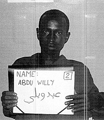 El presunto pirata detenido 'Abdu Willy'.