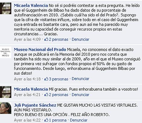 Comunicación directa con los usuarios, en este caso vía Facebook.