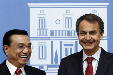 Li Keqiang y José Luis Rodríguez Zapatero, durante su encuentro en Moncloa. | Foto: Reuters
