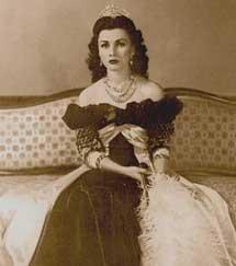 La reina Fawzia de Egipto.