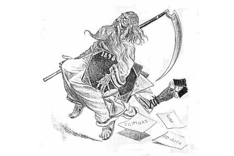 Un almanaque de 1899 de la revista 'Quijote', en el gran momento del pesimismo español.