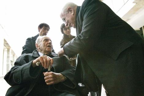 Manuel Fraga y el arquitecto Peter Eisenman, en su conversación.   Rosa González
