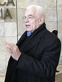 Peter Eisenman, este martes.   R. González