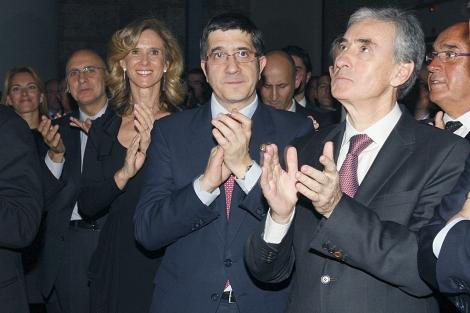 Quiroga, Ares, Germanedia, López, Jáuregui y Rojo, durante el acto en Madrid. | Efe